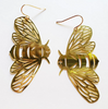 Bee dangles gold