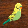 PBP Budgie Green Brooch