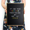 OMM Design - Gold & Black Retro Letter Board