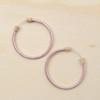 Hoop Earring Metallic Pink