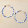 Hoop Earring Denim Stripe