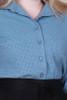 Betty Shirt Broidery Dusty Blue