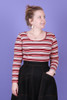 Bree Winter Top Pasta Stripe