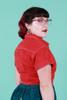 Suk X Made590 Cropped Jacket Crimson