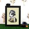 Ryan Berkley Meerkat Framed Print