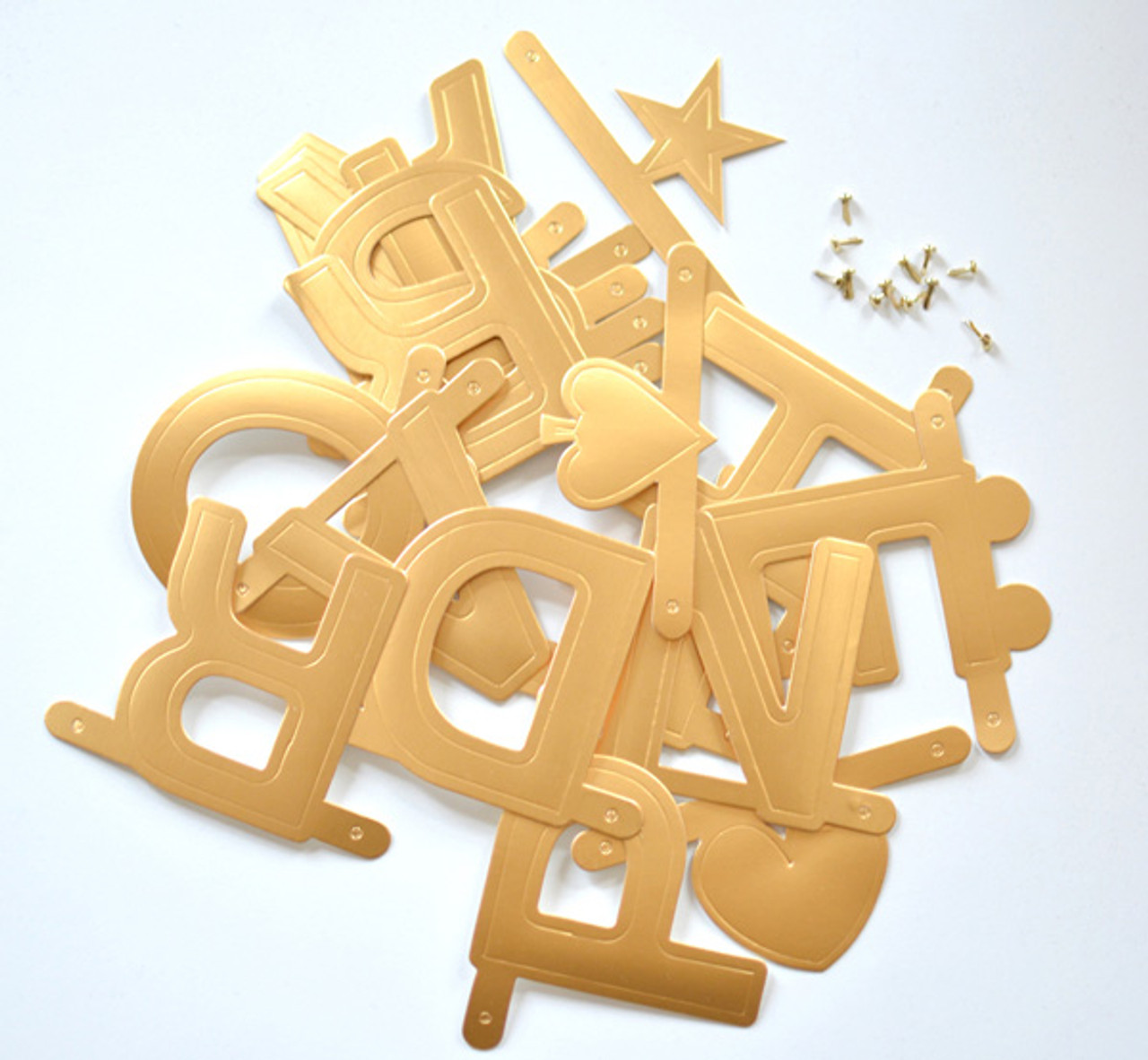 Omm Design - Gold Word Banner