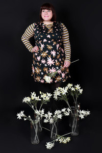 Queenie Dress Flannel Flowers