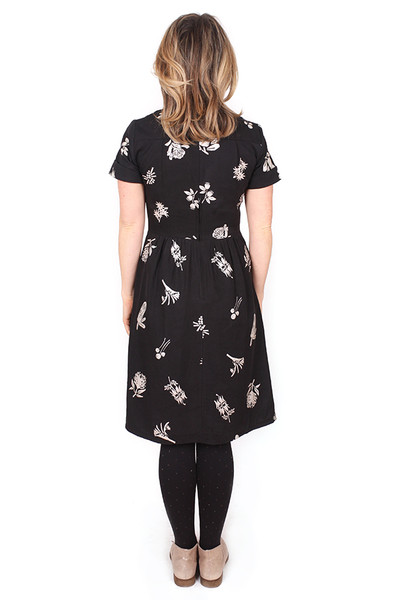 Nell Dress Bushwalk Black. - LUCKY LAST ONE LEFT - MEDIUM