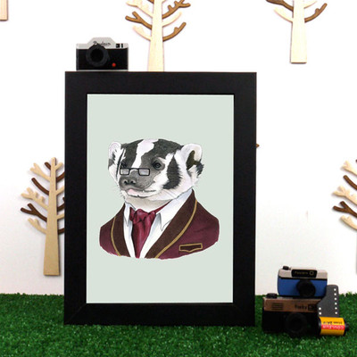 Ryan Berkley Badger Framed Print