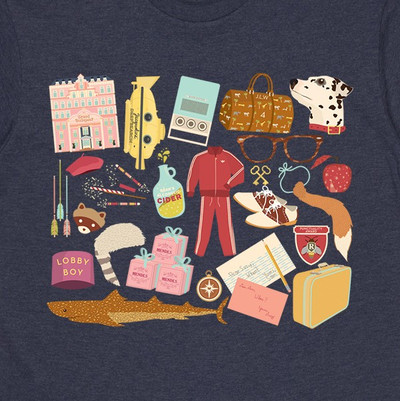 Wes Anderson Navy Marle Mens T