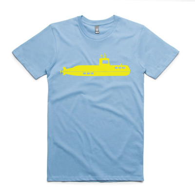 Submarine Carolina Blue Mens T