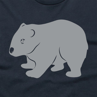 Wombat Navy Mens T.