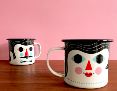 Enamel Couples Mug