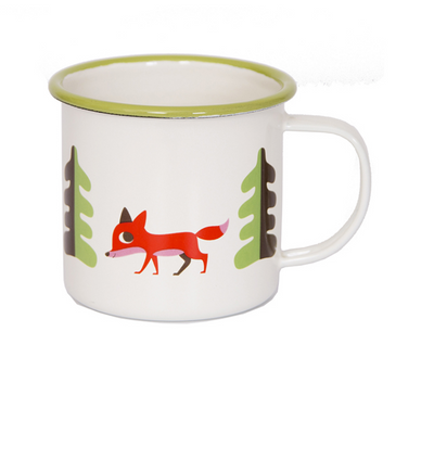 Enamel Fox Mug