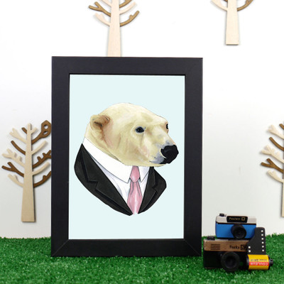 Ryan Berkley Polar Bear Framed Print
