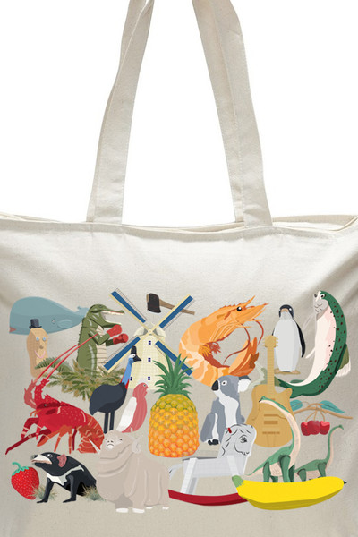 Big Aussie Road Trip Tote Natural.