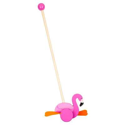 Push Along Toy Flamingo