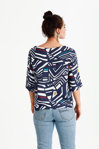 Rock Candy Spring Top Navy - LUCKY LAST ONE LEFT - LARGE