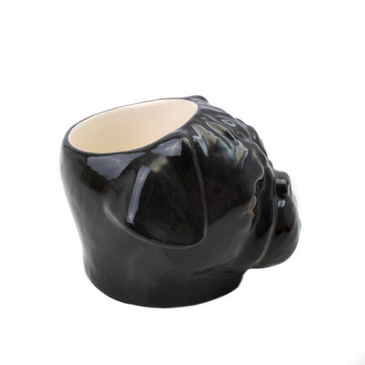 Pug Face Egg Cup Black.