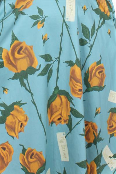 Every Body Valentina Skirt Roses Blue.