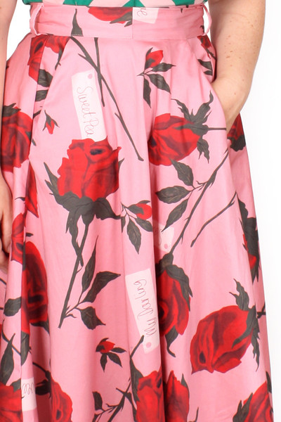 Every Body Valentina Skirt Pink Roses