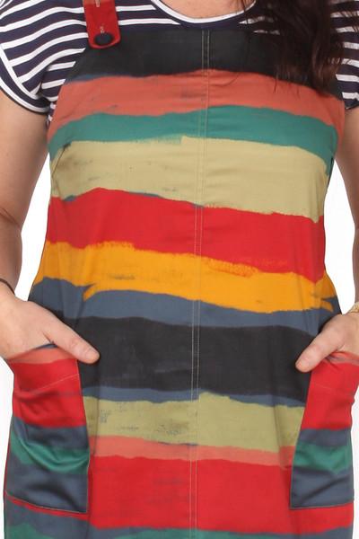 Petra Pinafore Sketchy Stripe