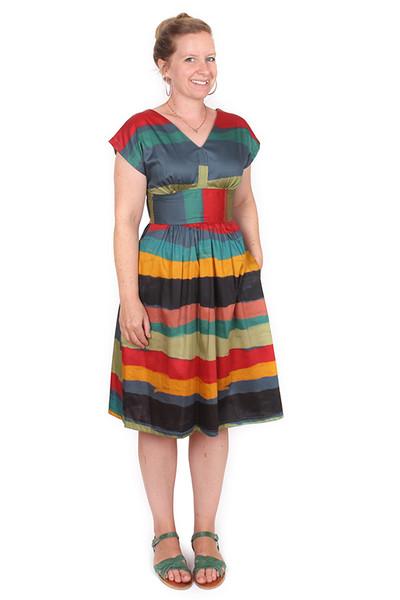 Every Body Imogen Dress Sketchy Stripe.