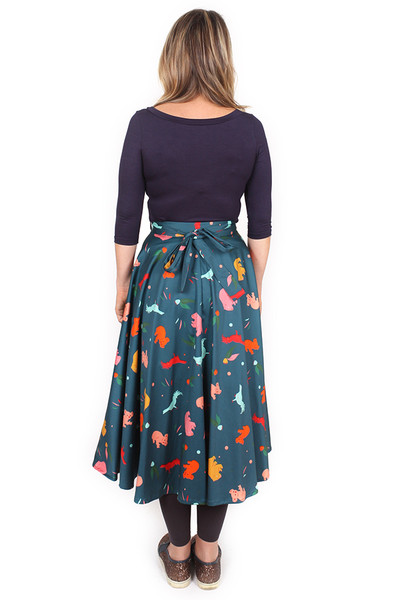 Sybil Top Midi Sleeve Navy