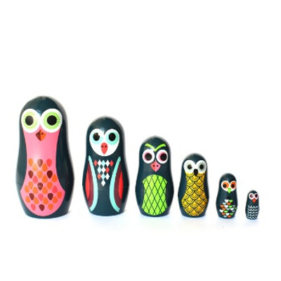 Omm Design - Pocket Owls Nesting Dolls..