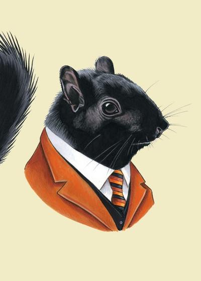 Ryan Berkley Black Squirrel Framed Print