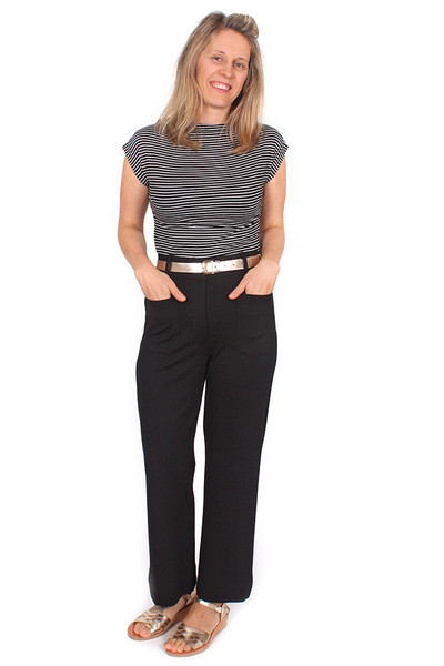 Every Day Olive Pant Lithograph Black