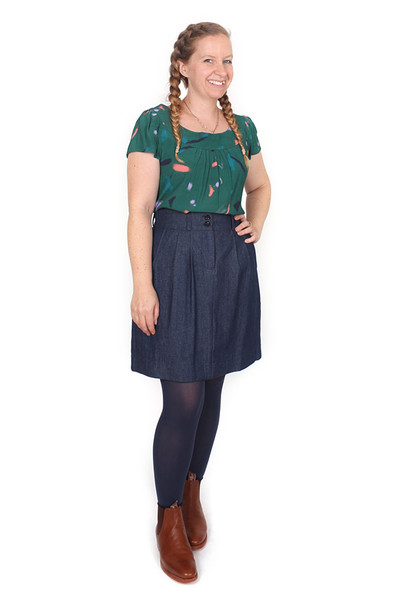 Jeanie Skirt Blue Jean