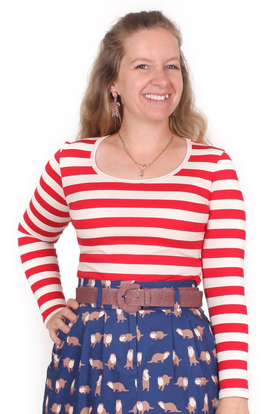 Every Body Autumn Top Red Stripe