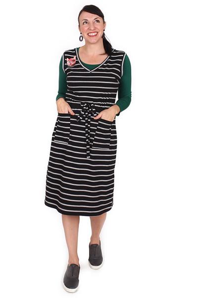Demi Drawstring Dress Long Triple Threat