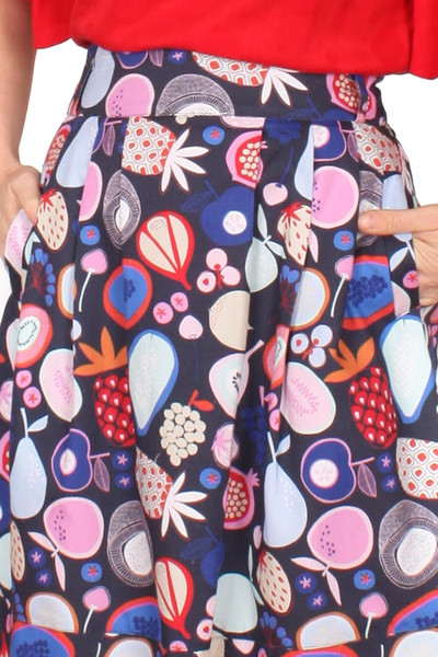 Bonset Skirt Pomegranate