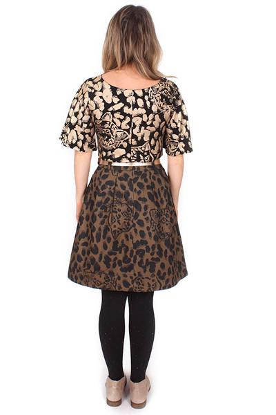 Bonset Skirt Spot the Leopards Olive.