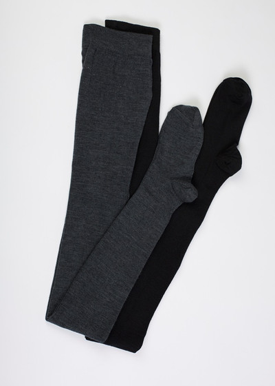 Merino Tights Charcoal.