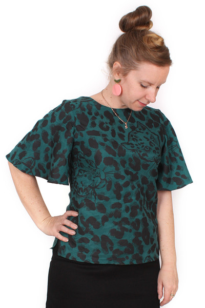 Every Body Evelyn Top Leopards Green
