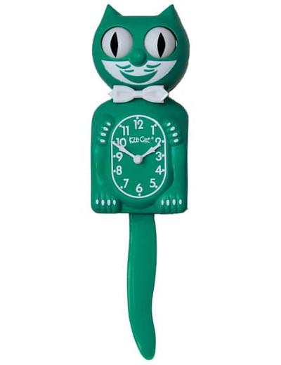 Kitty Cat Clock Green.