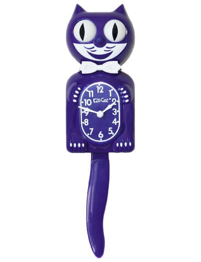 Kitty Cat Clock Ultra Violet