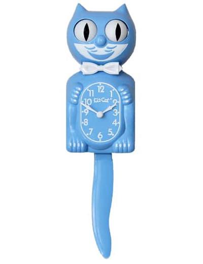 Kitty Cat Clock Serenity Blue