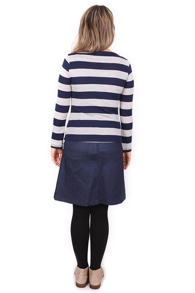 Rizzo Wool Long Sleeve Navy Stripe