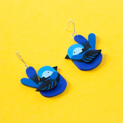 Splendid Fairy Wren Earrings
