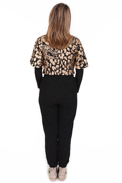 Every Day Peta Pant Puzzle Black.