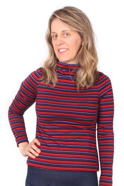 Every Day Scarlet Skivvy Wool Stripe