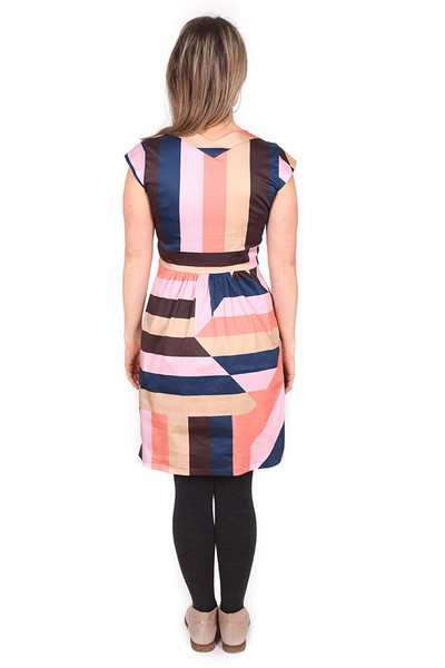 Every Body Ruby Dress Sticky Stripe Navy