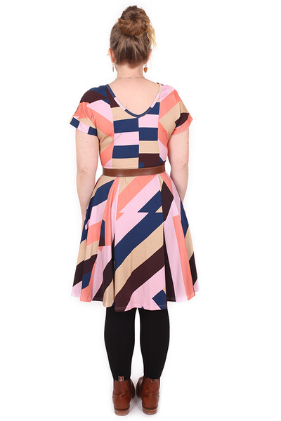 EB Ripley Reversible Dress Sticky Stripe Navy