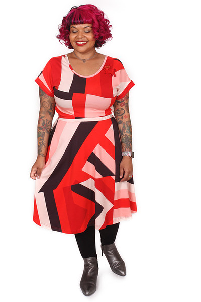 Rizzo Skirt Sticky Stripe Red