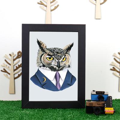 Ryan Berkley Horned Owl Framed Print