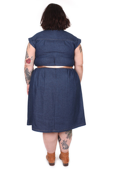 Every Body Trixie Dress Denim Linen